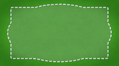 Frame Dashes Border Paper Texture Animated Green Background Stock Footage