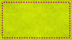 Frame Dashes Border Paper Texture Animated Yellow Background Stock Footage