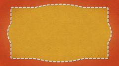Frame Dashes Border Paper Texture Animated Orange Background Stock Footage