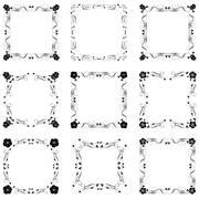 Vector decorative frames Stock Illustration