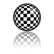 Checkered Flag Sphere 3D Rendering Stock Illustration