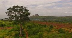 Africa Aerial savana panorama 4K Stock Footage