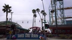Santa Cruz beach boardwalk, California - stock footage