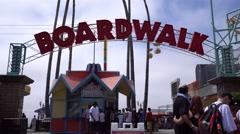 Santa Cruz beach boardwalk, California Stock Footage