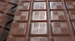 Chocolate bars and blocks popular confection shallow DOF tilting 4K 2160p Ult Stock Footage