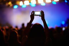 Shooting the concert Stock Photos
