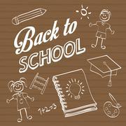 Back to school design. Study icon. Draw illustration , vector - stock illustration