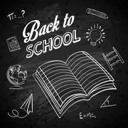 Back to school design. Study icon. Draw illustration , vector - stock illustration