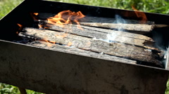 Solid BBQ Outdoors Stock Footage