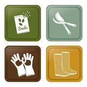 Gardening design  Botany icon. Flat illustration , vector - stock illustration