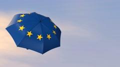 european union flag - stock footage