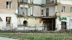 Ruined house Russia - stock footage
