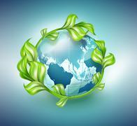 design of environmental protection - stock illustration