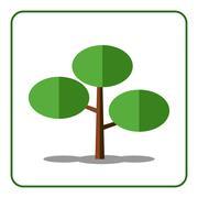 Pine fir tree icon - stock illustration