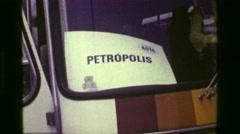 1977: Tourist bus bound for Petropolis part of the ASTA conference. RIO DE Stock Footage