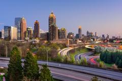 Atlanta Georgia Skyline Stock Photos
