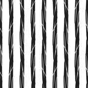 Grunge stripes seamless pattern black vertical - stock illustration