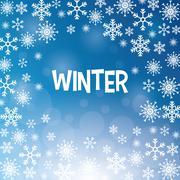 Winter design. blue background. Flat illustration Piirros