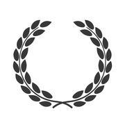 Laurel wreath symbol achievement Stock Illustration