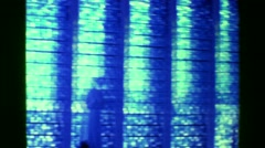 1977: Blue stained glass Christian church interior gothic exterior.  BRASILIA, Stock Footage