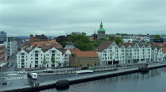 Movement along the Stavanger high viewpoint Stock Footage