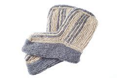 wool slippers - stock photo