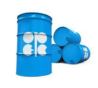 OPEC Flag Oil Barrel Stock Illustration