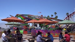 Santa Cruz beach boardwalk, California Stock Footage