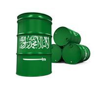 Saudi Arabia Flag Oil Barrel - stock illustration