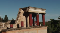 Knossos North Gate. Crete Greece. Stock Footage