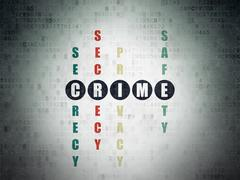 Safety concept: Crime in Crossword Puzzle - stock illustration
