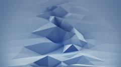 Blue polygonal surface waving seamles loop 3D render 4k UHD (3840x2160) Stock Footage
