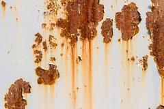 Old painted metal texture with traces of rust. - stock photo