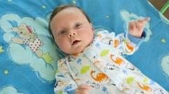 Portrait Of A Cute Newborn Baby - stock footage
