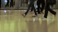 Crowd at the Mall. Fast Motion - stock footage
