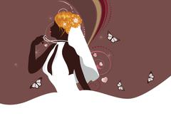 Beautiful bride Stock Illustration