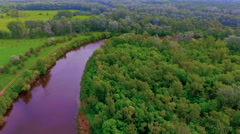 Aerial Photo of the landscape Stock Footage