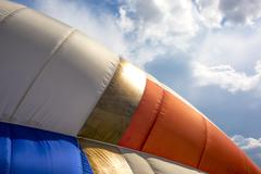 Detail of a colorful hot air balloon - stock photo