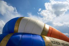 Detail of a colorful hot air balloon Stock Photos