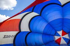 Inside a hot air balloon Stock Photos