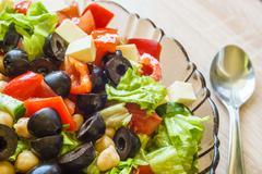 Mediterranean cuisine fresh salad - stock photo
