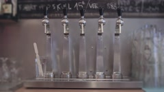 Beer Taps In The Pub - stock footage