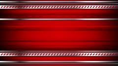Abstract tech red video animation with metallic stripes Stock Footage