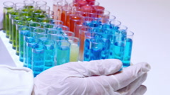 Laboratory Testing of Specific Chemical Compounds - stock footage
