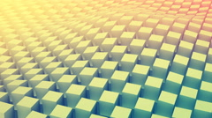 Checkered cubes surface waving. Seamless loop 3D animation 4k UHD (3840x2160) Stock Footage