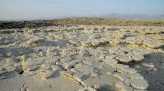 Saltwater Lake, Dallol, Danakil Desert, Ethiopia, Africa Stock Footage