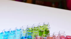 Laboratory Testing of Specific Chemical Compounds Stock Footage