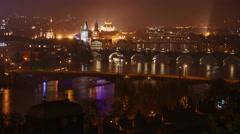 Evening rush hour on the Vltava Stock Footage