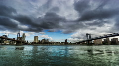 Panoramic view of Manhattan, New York City, NY Stock Footage
