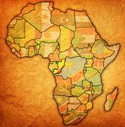 Congo on actual map of africa Stock Illustration